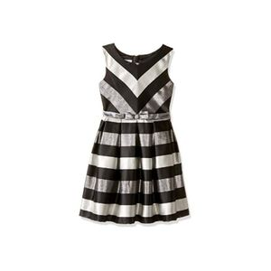 Iris&Ivy/Bonnie Jean Metallic Stripe Party Dress